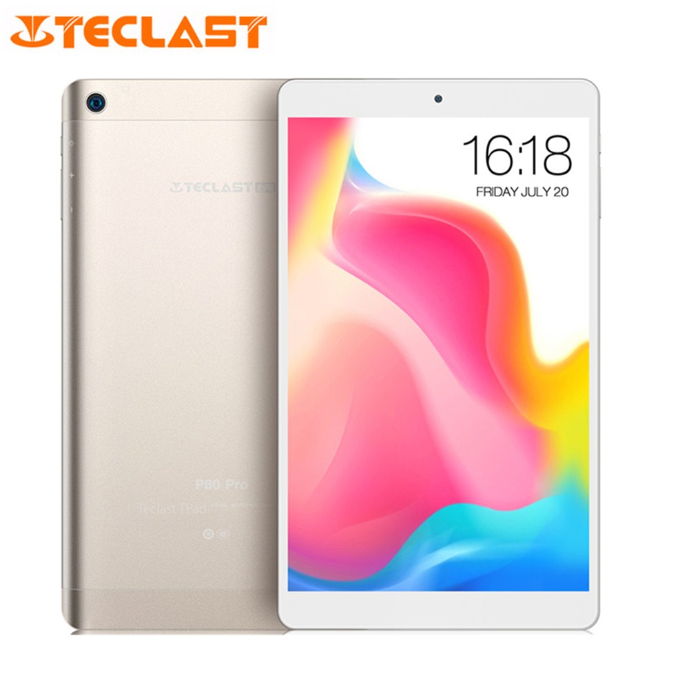Teclast P80 Pro Tablet PC 8.0'' Android 7.0 MTK8163 Quad Core 1.3GHz 3GB RAM 16GB EMMC ROM Double Cams Dual WiFi HDMI 1280*800