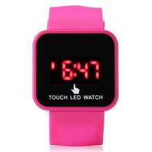 Children'S Watch Square Led Touch Screen Luminous Table Trend Men And Women Fash