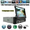 12 В Стерео Bluetooth и FM Радио Аудио Плеер MP5 Телефон USB/TF Радио В Тире 1 DIN 7 дюймов 5 языков меню