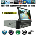 12V Car Stereo Bluetooth FM Radio MP5 Audio Player Phone USB/TF Radio In-Dash 1 DIN 7 inch 5 languages menu