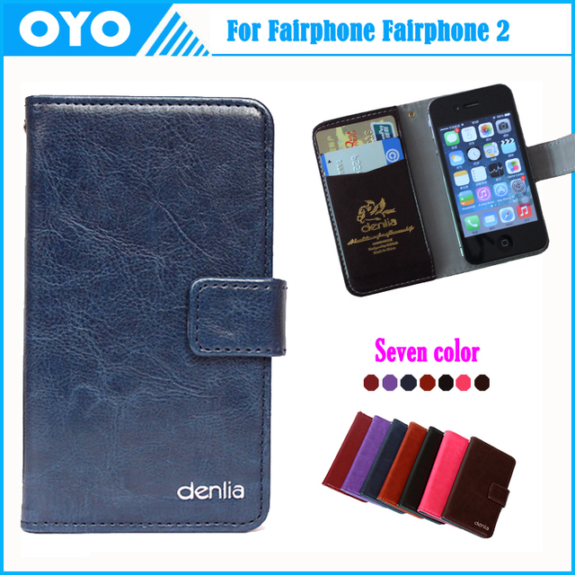new style 23d15 f0f15 US $12.99 |Fairphone Fairphone 2 Case Factory Price 7 Colors Customize  Genuine Leather Smartphone Cover Crazy Horse Card Wallet+Tracking on ...