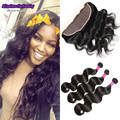 body wave 8a peruvian virgin 3 bundles with 13x4 ear to ear lace frontal closure Peruvian human hair with frontal ms ariel hair