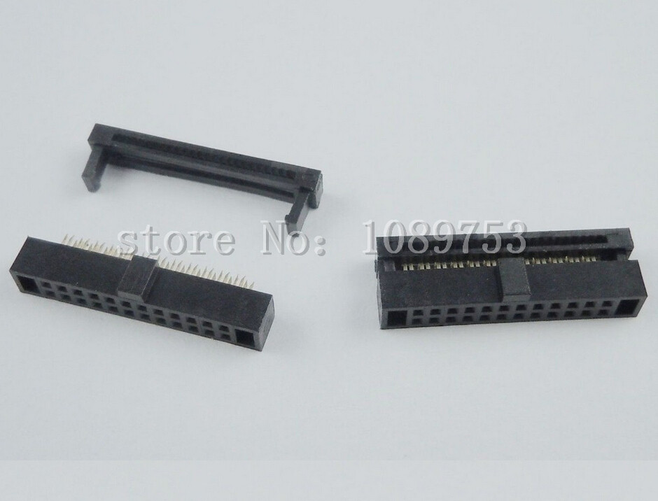 20Pcs 1.27mm Pitch 2x12 Pin 24 Pin IDC FC Female Header Cable Socket Connector 10 pcs idc fc pitch 2 0mm 34 pin cable female header socket connector 2x17 pin