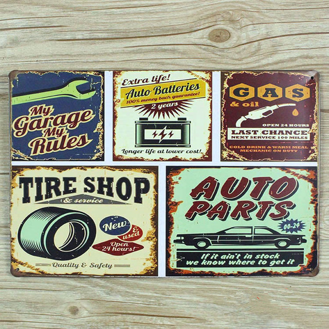 NEW arrival   tire shop and car gas   A-0243 metal vintage tin signs & NEW arrival