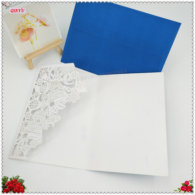 10pcs Laser Cut Flower Wedding Invitations Cards Print Elegant Paper Card  Decoration Favors Invitation Card Wedding