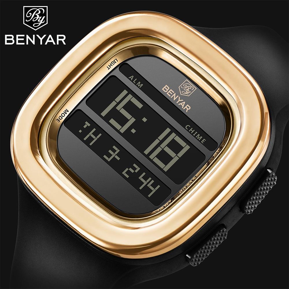 BENYAR Mens Watches 2018 Top Brand Luxury Sports Watch Electronic Digital Wrist Clock Man 30m Waterproof Watches dropshipping все цены