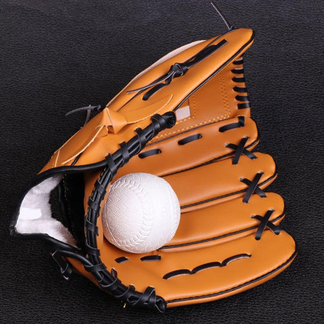 Sport & Unterhaltung Hot Outdoor Sport Softball Braun Baseball Handschuh Praxis Verdicken Ausrüstung Größe 10,5/11,5/12,5 Links Hand Für Erwachsene Männer Frauen