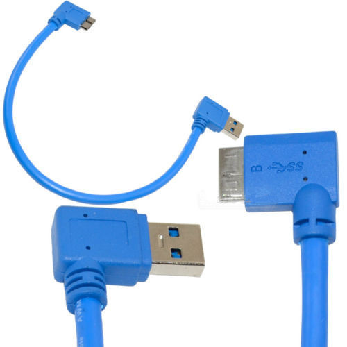 30cm USB 3.0 B Female to B Male 90 degree Right Angle Extension Convertor Cable