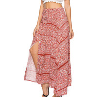 2018 New Spring Summer Long Style Fashion Lace Up High Waist Skirts Women Boho Chic Split