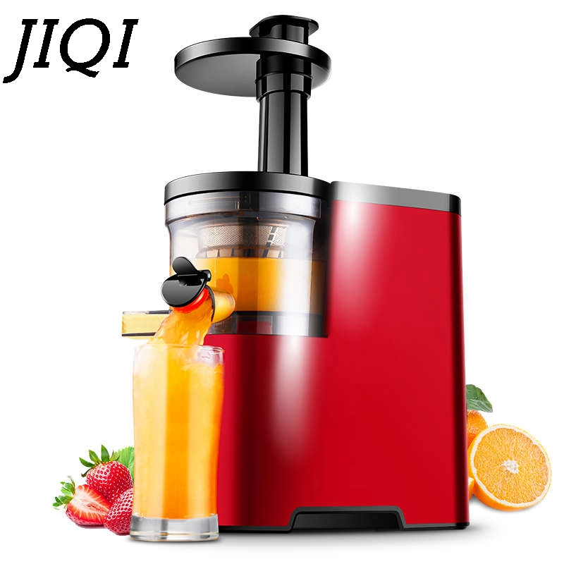 JIQI Slow Electric Juicer multifunctional Low Speed squeezer Household fruits vegetable Juice maker Extractor machine EU US plug