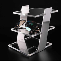 Luxury silver/ rose gold colors 3/4 layers Acrylic Floor mount Glasses Frame Sunglasses Display Stand Sunglasses Display Stand