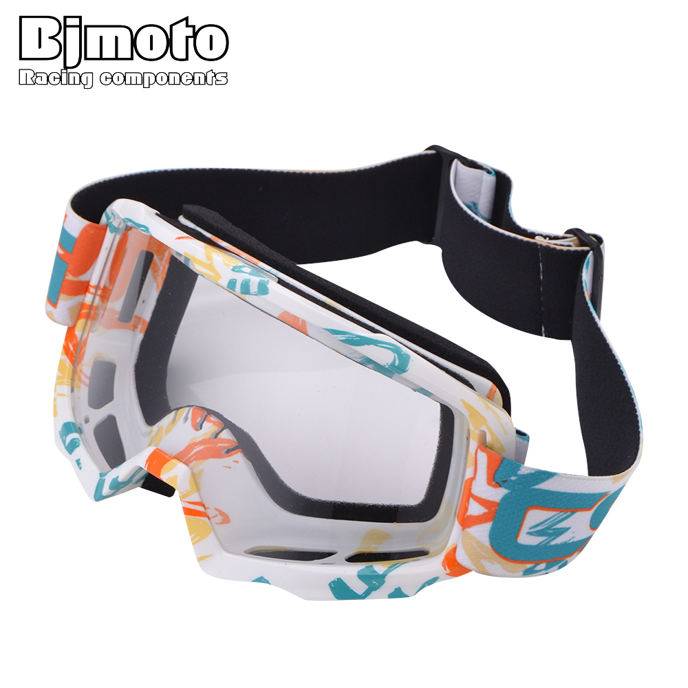 BJMOTO Transparent Sport Racing Off Road Motocross Goggles Motorcycle Dirt Bike Goggle Outdoor Windproof Glasses