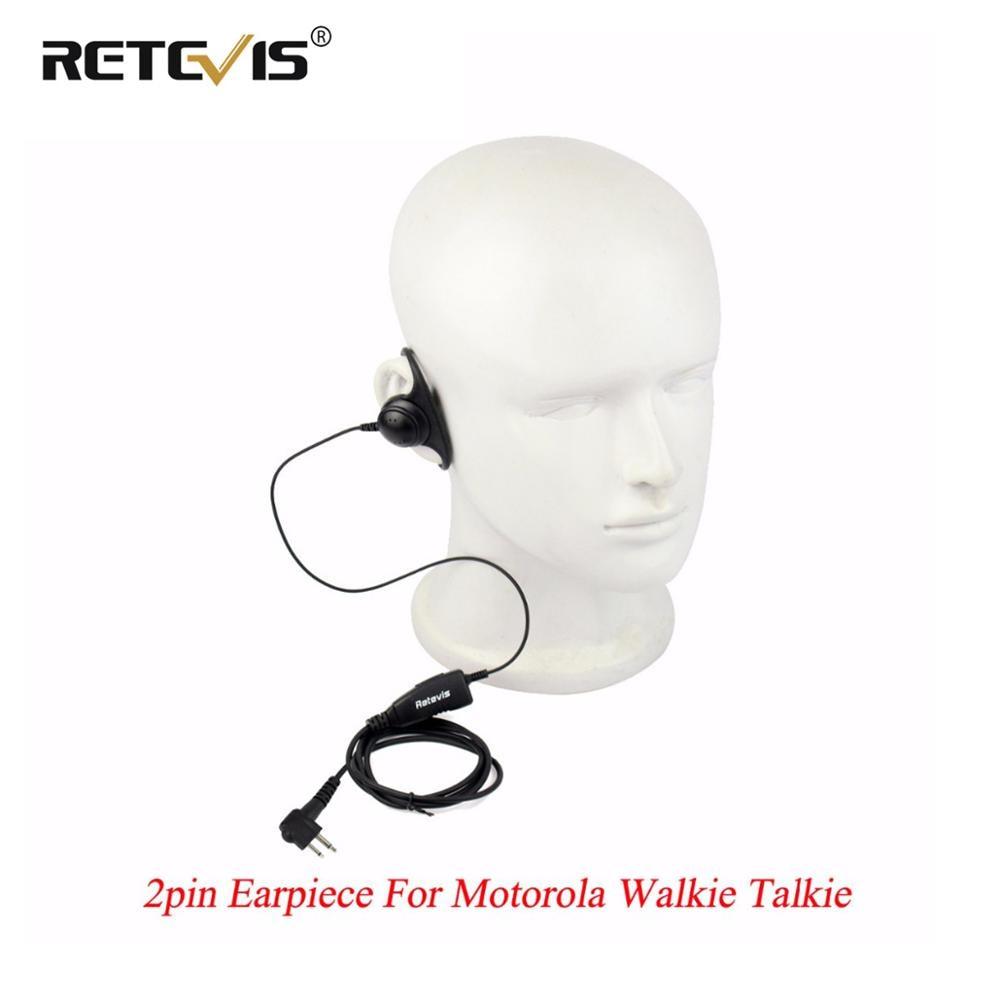 Retevis D Shape Soft Ear Hook Earpiece PTT MIC Headset Headphone For Motorola GP300 P040 Pro1150 GP2000 For HYT Walkie Talkie