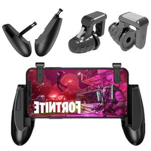 Portable mobile game button trigger fire