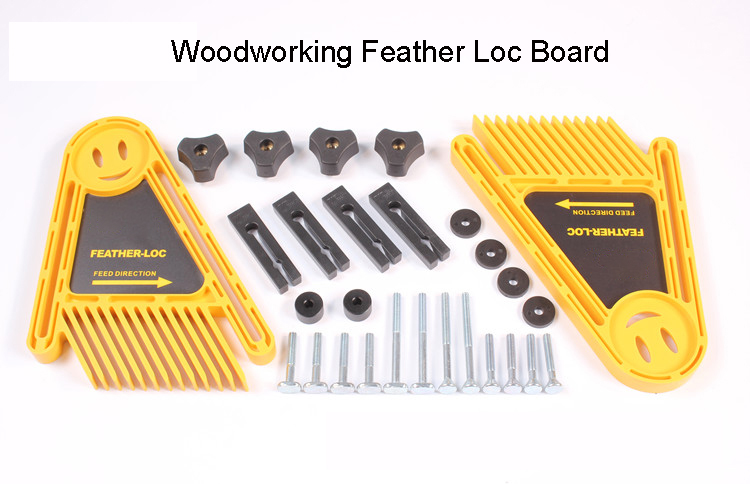 Woodworking Feather Loc board set,Multi-purpose Double Featherboards Miter Gauge Slot Woodwork newest 1 pair of multi purpose double featherboards feather loc board for table saws router & tables fences tools miter gauge