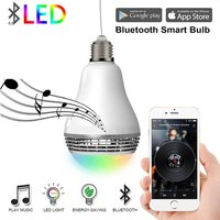 Wireless Bluetooth Speaker Smart Home LED Light Bulb Wifi Color Changing Light Automation Module Kit Control