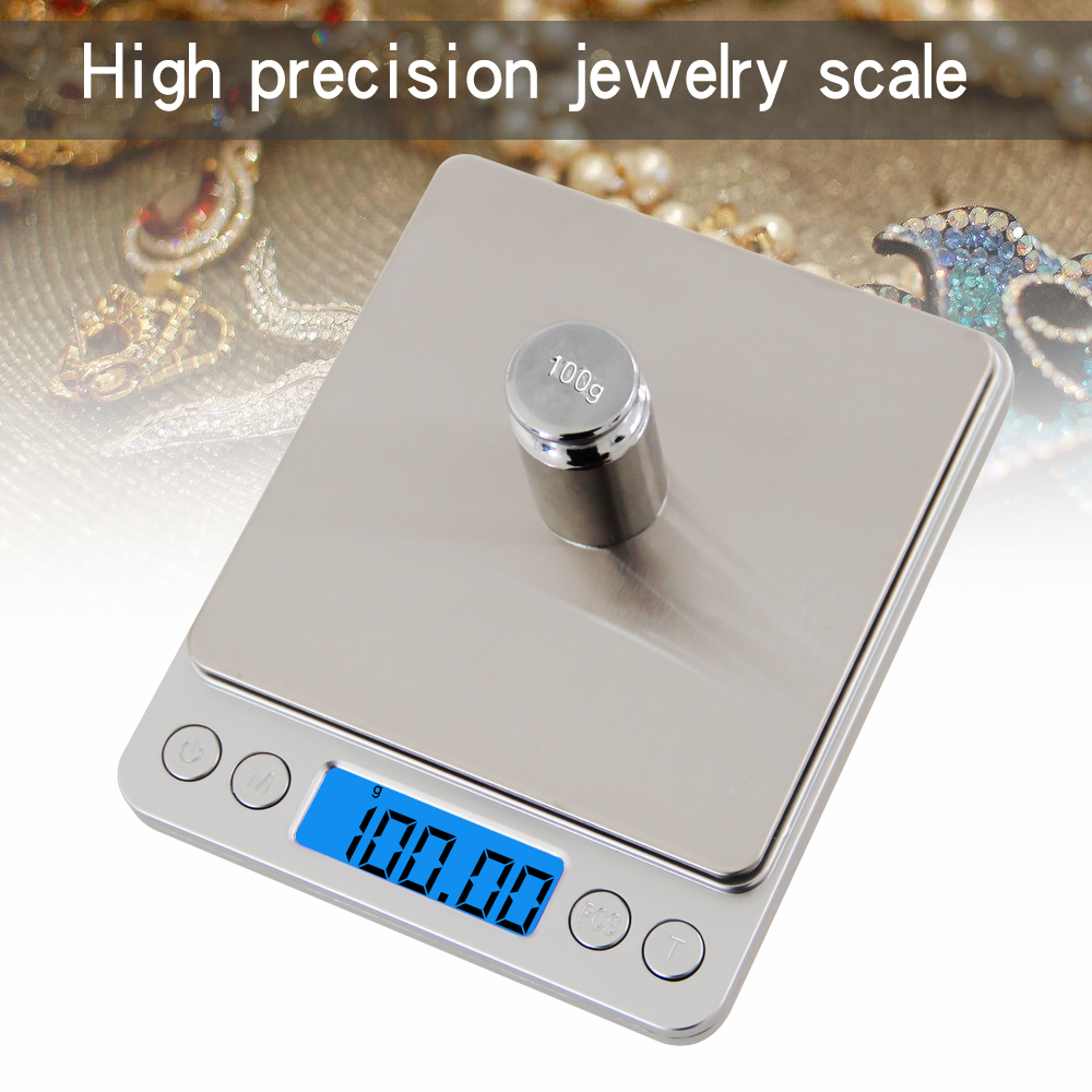Portable Mini font b Electronic b font Food Kitchen Scales Pocket Case Postal Jewelry Weight Balanca