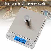 Portable Mini Electronic Food Kitchen Scales Pocket Case Postal Jewelry Weight Balanca Stainless Steel Weight with Calibration