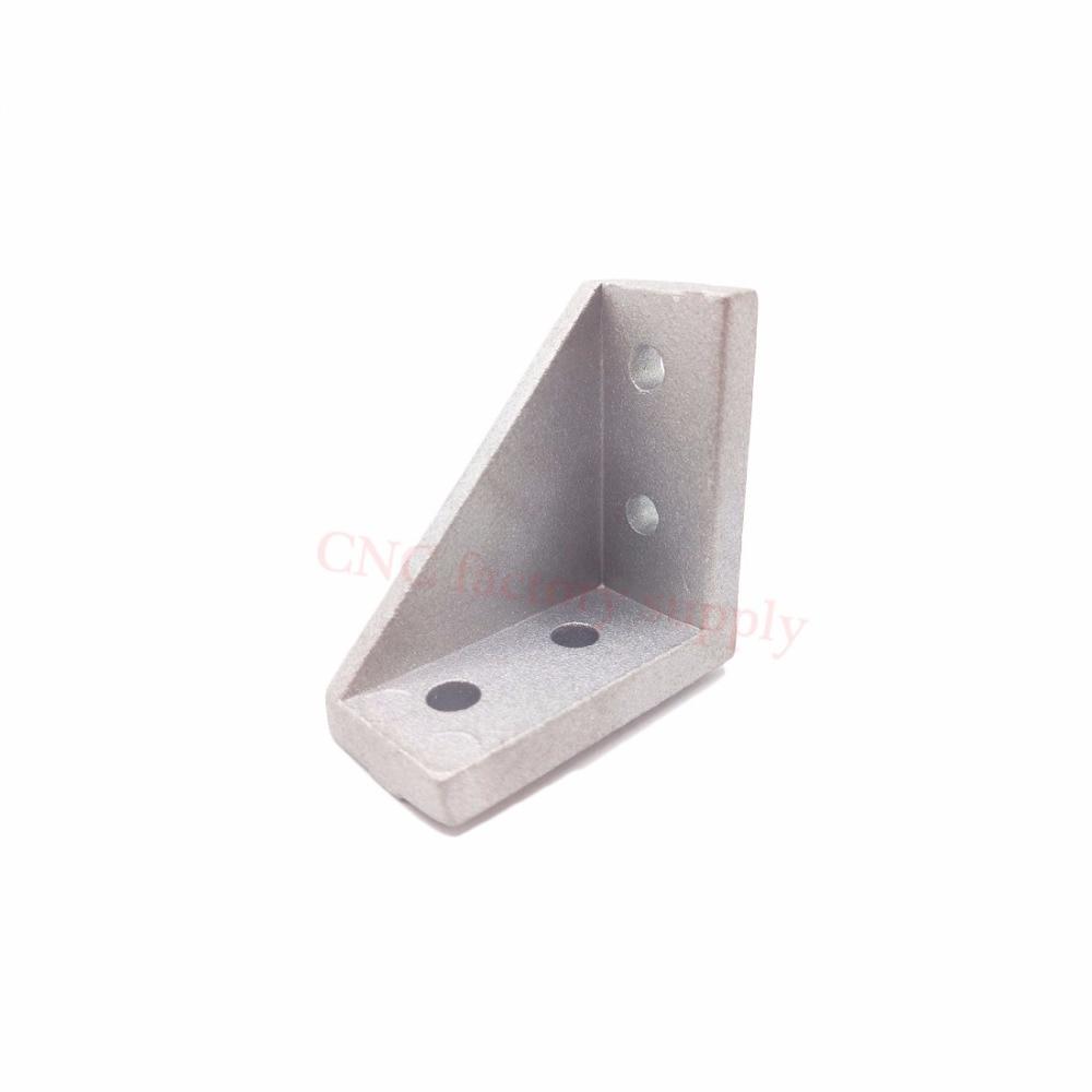HOTSale 2040 corner fitting angle aluminum 20 x 40 L connector bracket fastener match use 2040 industrial aluminum profile 20pcs 4040 corner fitting angle aluminum 40 x 40 x 35mm connector bracket fastener match 4040 industrial aluminum profile