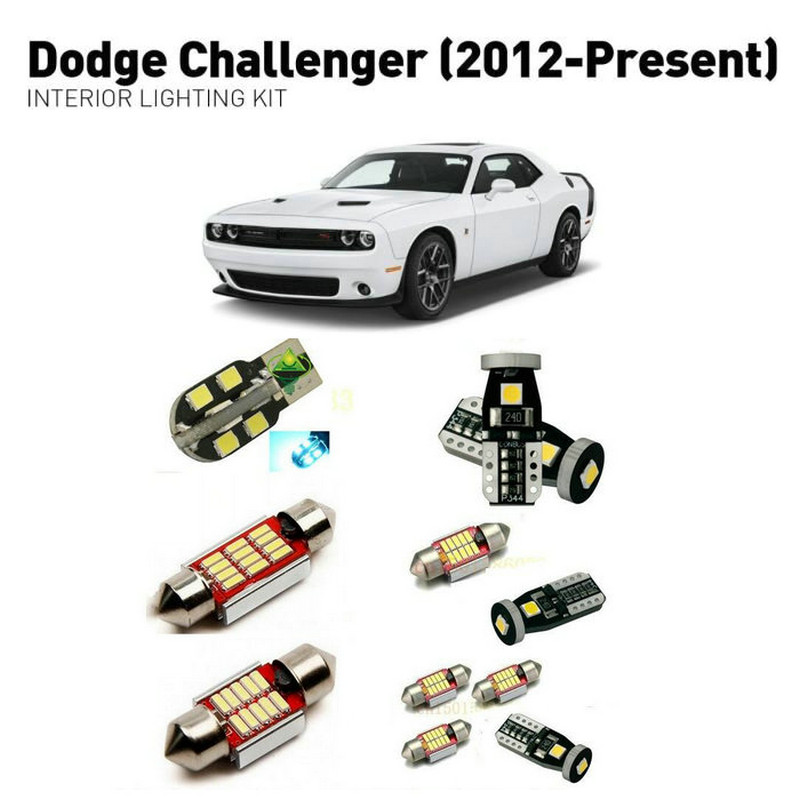Led interior lights For Dodge challenger 2012 10pc Led Lights For Cars lighting kit automotive bulbs Canbus in Car Light Assembly from Automobiles Motorcycles