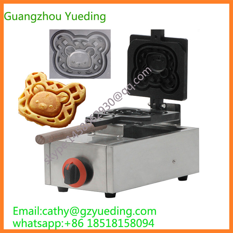 bakery machines gas bear shape waffle maker cartoon animal cake machine bread mold for sale mixed pole machines