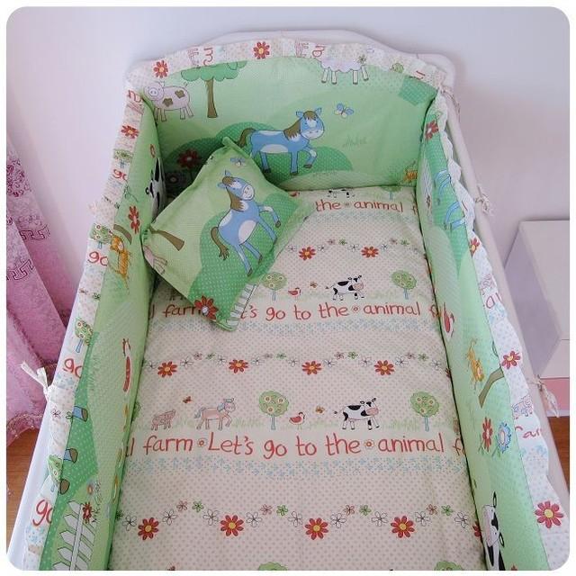 Berço beding com enchimento, Algodão berço cama, Incluem ( bumpers folha + travesseiro )