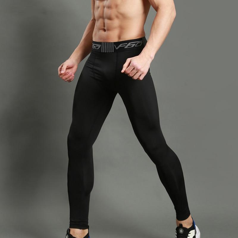 Vertvie Running Pants Men Tight Sports Leggings Fitness Compression Pants Sweatpants Bodybuilding Gym Trousers Base Layer