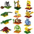 2017 New Gift Building Blocks small animal Minion Mario Transformation Cartoon Characters 3D Bricks Toy christmas figure action