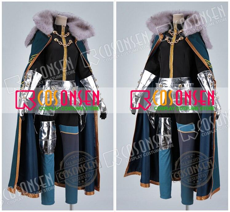 Fate Grand Order FGO Gawain Saber Servant Cosplay Costume With Cloak COSPLAYONSEN Full Set Custom Made
