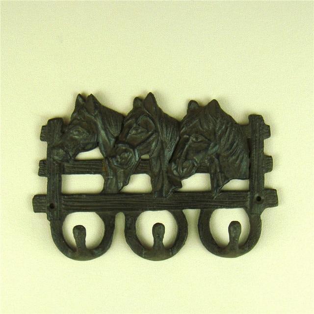 Vintage Cast Iron Horse Le Key Hook Metal Pony Wall Hanger House Decor Craftworks Embellishment Accessories Paddock Present