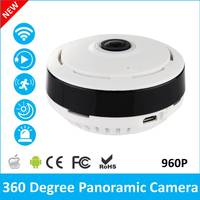 360 Degree Fisheye Panoramic IP Camera 1 3 Megapixel 960P Wireless Wifi 2 4GHZ Security Camera