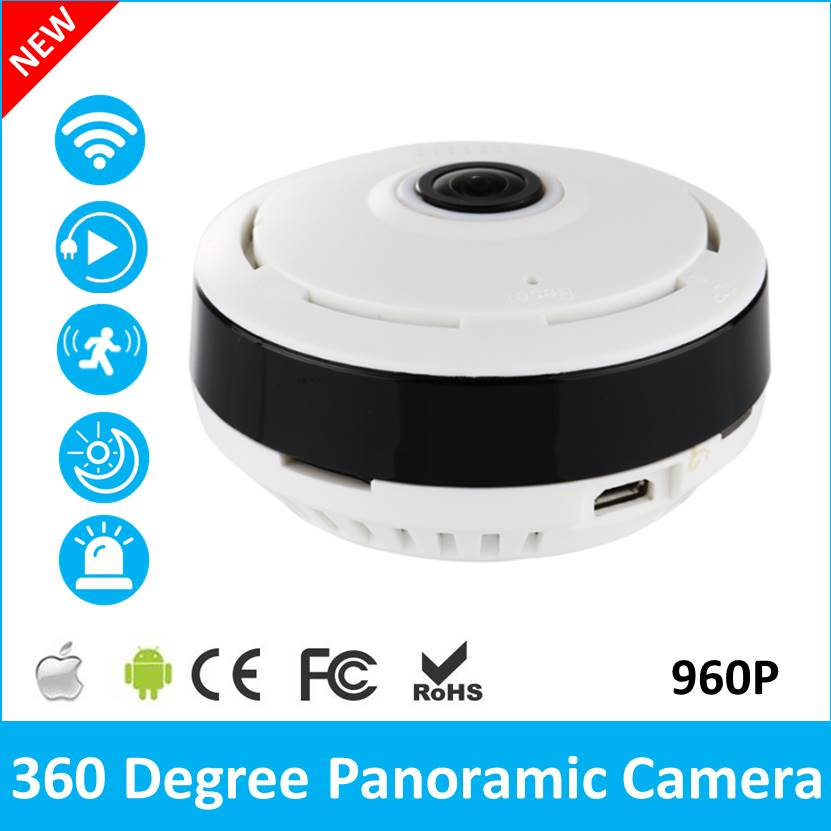 Wholesale 360 Degree Fisheye Panoramic IP Camera 1.3 Megapixel 960P Wireless Wi-Fi Security Camera  Wide Angle V380 IPCam