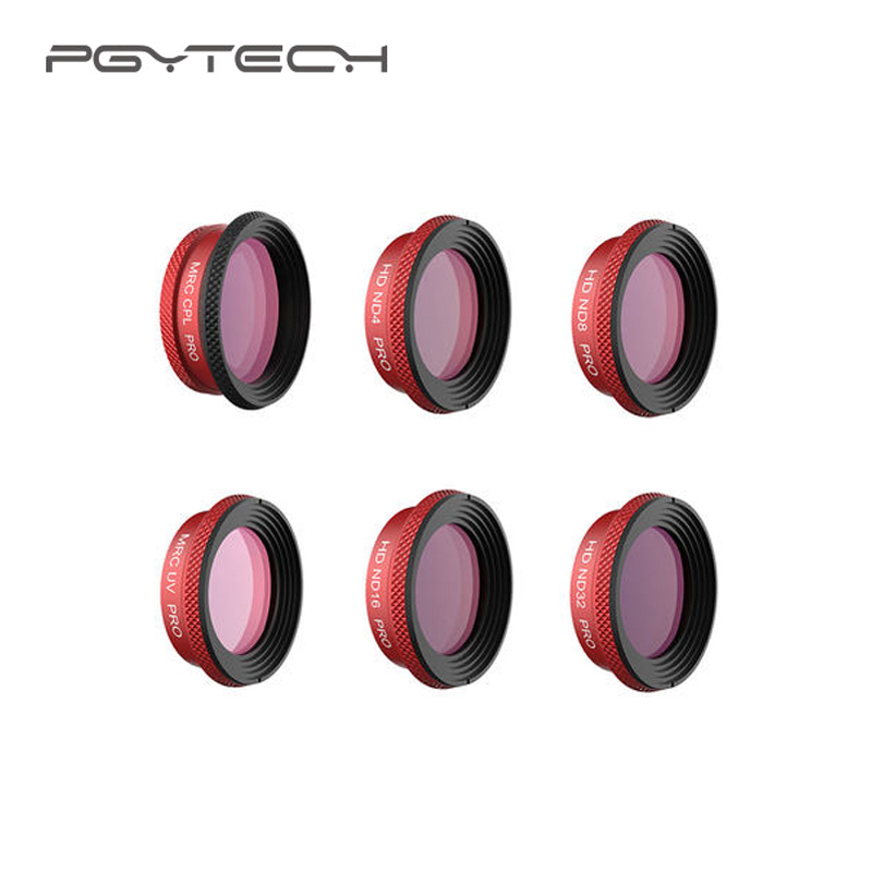 PGYTECH Mavic Air Lens Professional Version HD Filter MRC-UV MRC-CPL ND Set ND-PL Set Filter for Mavic Air Camera Accessories pgytech mavic air filter for dji mavic air mrc uv nd64 nd64pl mrc cpl filter for dji mavic air camera lens filter accessory