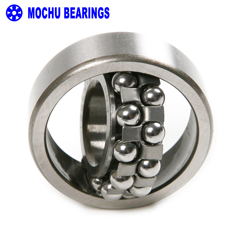 1pcs 1318 90x190x43 MOCHU Self-aligning Ball Bearings Cylindrical Bore Double Row High Quality 1pcs 1217 1217k 85x150x28 111217 mochu self aligning ball bearings tapered bore double row high quality