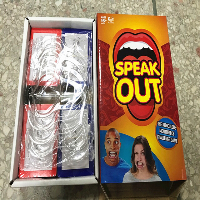 Speak Out Game Mouthguard Challenge Game Teeth Whitening Mouth Opener toys Family party game Free shipping
