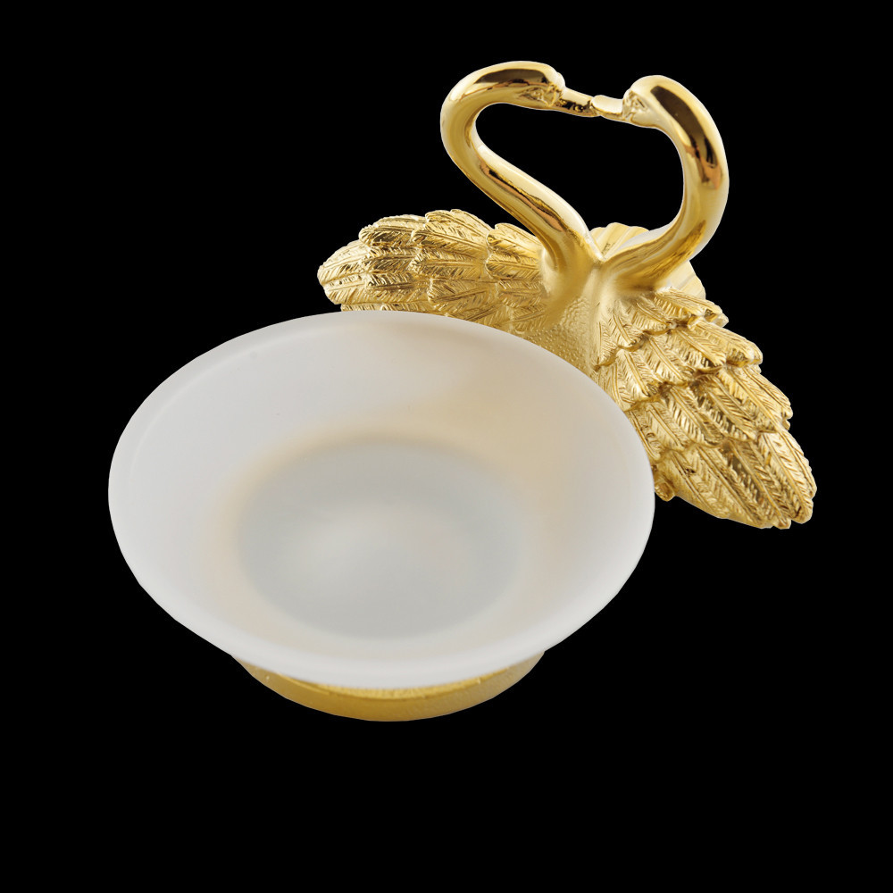 Golden Swan Soap Dish Holder Bathroom Wall Mounted Soap Dish Glass Soap Dish Free shipping Wholesale And Retail  MB-0965A antique brass bathroom kitchen soap dish wall mounted copper soap dish holder basket free shipping