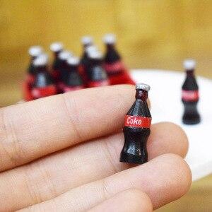 Image 2 - 1 セット 12 個ミニコークス飲料 1/12 ドールハウスミニチュア食品人形ドリンクプレイおもちゃフィット Ob11 アクセサリー