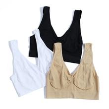 3pcs/set BH Brands Women Push Up Sleeping Bra Shakeproof Fitness Seamless Bra Wireless Brassiere Bra Girl Crop Top Underwear Bra