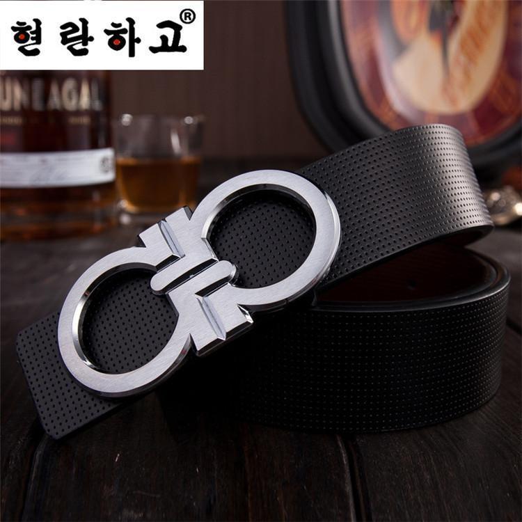 05c0ed12b04 2014 homme ceintures de mode luxe boucle double marque D round 2 couleurs  ceinture noire de tête en cuir vachette ceinture 105 125 cm 5064 dans  Ceintures et ...