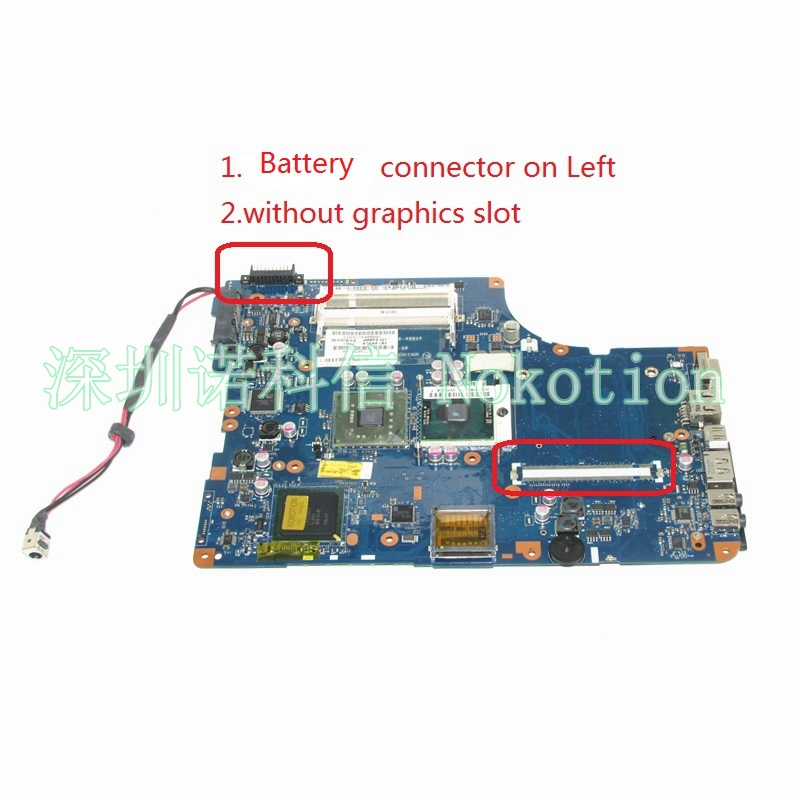 NOKOTION KSWAA LA-4981P K000078970 For toshiba satellite L500 L550 Laptop motherboard intel HD GMA GM45 DDR2 free CPU laptop motherboard for toshiba satellite l550 l555 k000092150 la 4982p kswaa 46179151lb2 100 page 2