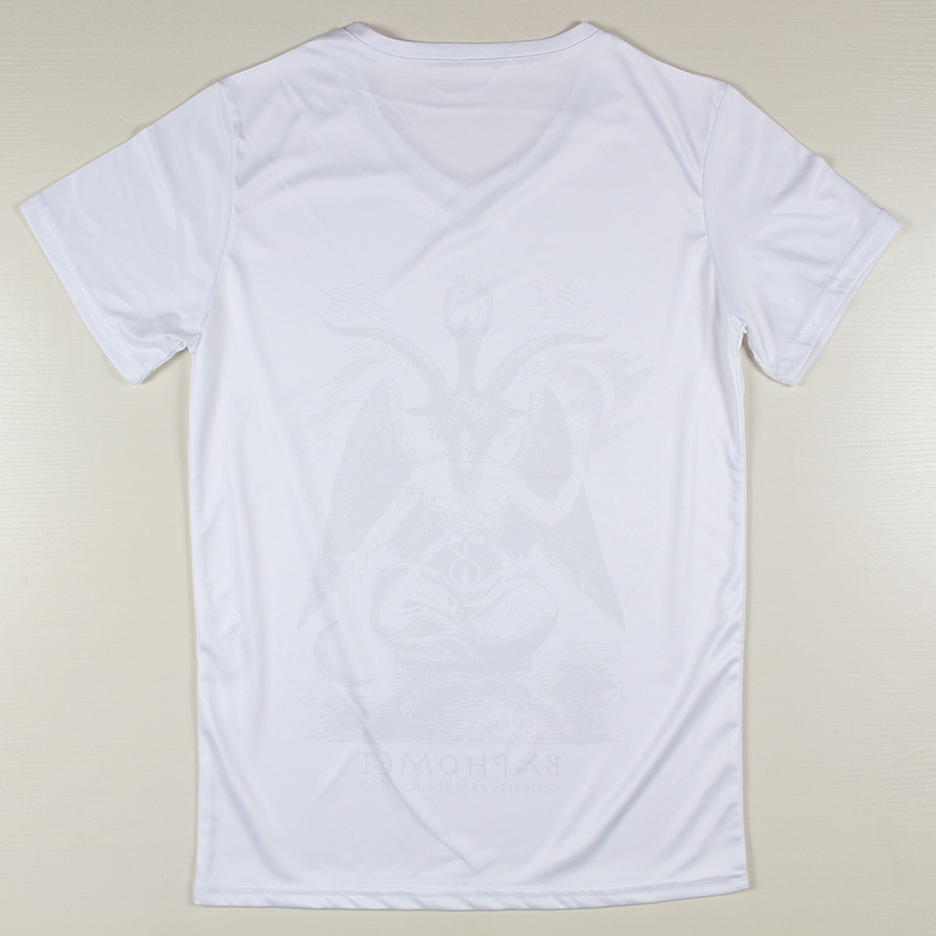 4cf019d6d0fc Stylish Baphomet Printing Cute Sale Short Sleeve Male Buy Mens V Neck White  T Shirts Online-in T-Shirts from Men's Clothing on Aliexpress.com | Alibaba  ...