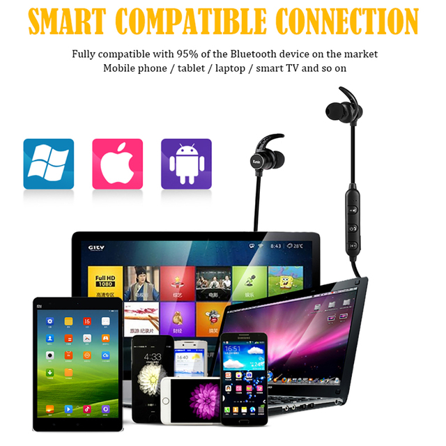 Bluetooth Earphone Wireless headphone Magnetic Earbuds With Microphone Stereo Bluetooth Earpiece for xiaomi phone