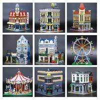 H&HXY DHL IN STOCK 15001 15002 15003 15004 15005 15006 15007 15008 15009 15010 15011 17008House Model Building Block Bricks Toys