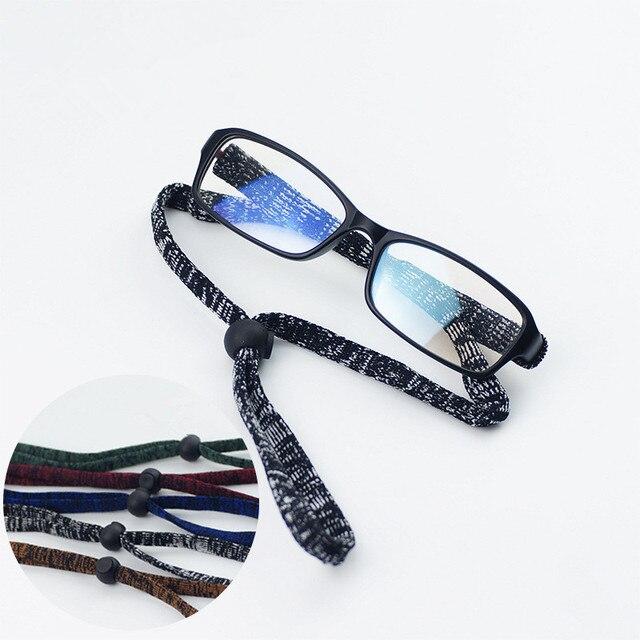 f8cf320cf4 Óculos de Sol do esporte Óculos Óculos Adjutable Cordão Alça de Corrente  Cabo de Corda Ao