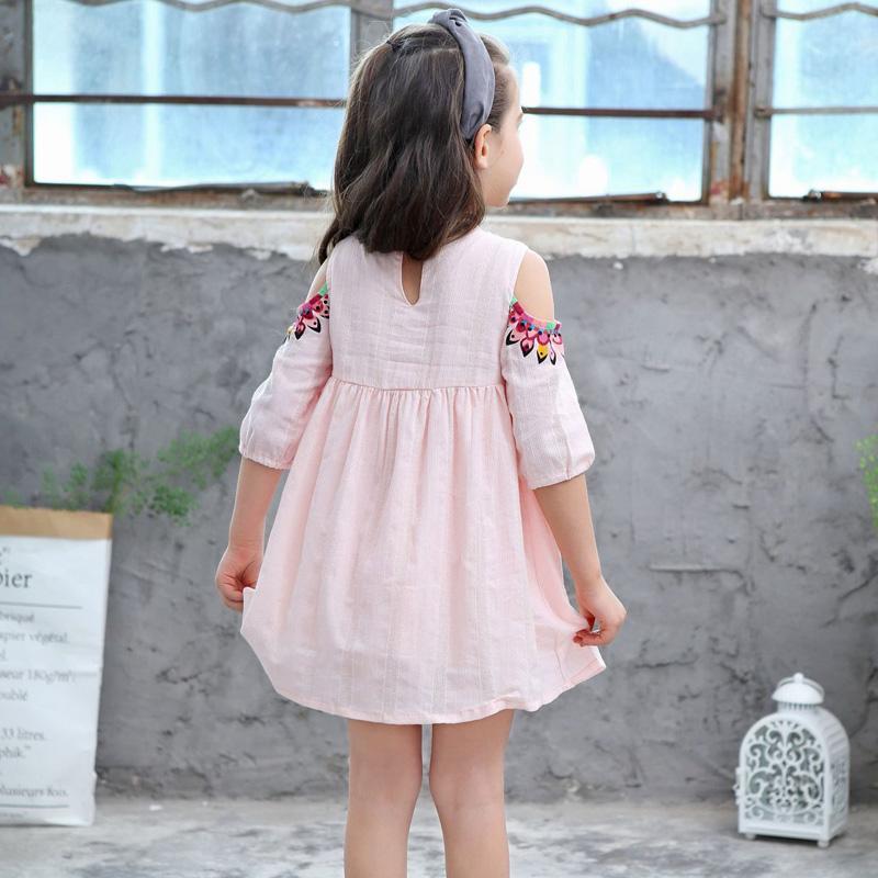 para Meninas Flor Impressos Crianças Princesa Roupas
