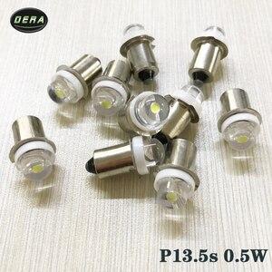 Image 4 - 2 sztuk P13.5s 0.5w DC3V 4.5V 6V dla led latarka latarki żarówki wysokiej jasności awaryjne światło robocze 0.5watt żarówka