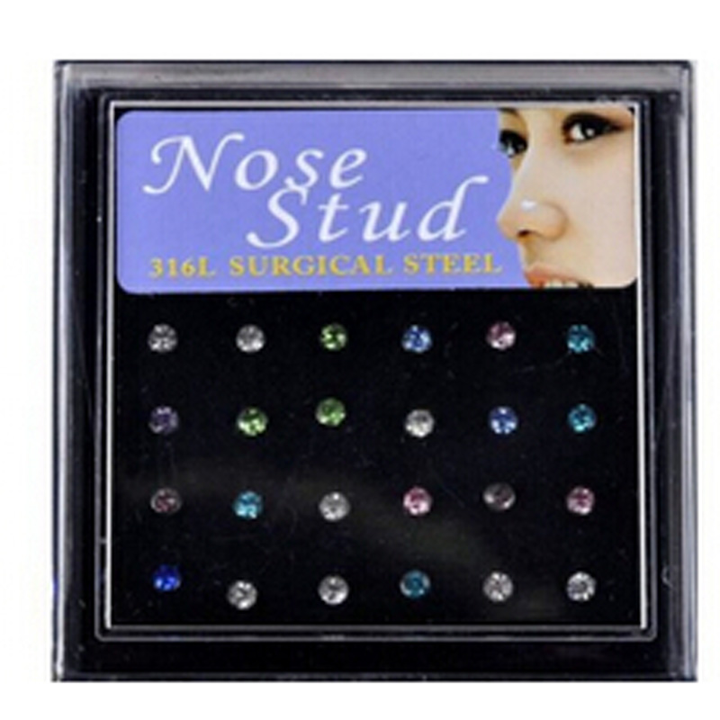 Hot Sale Stainless Steel Nostril Nose Ring Stud Fake Piercing Navel