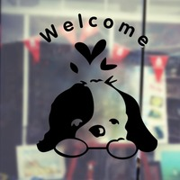New Arrival Pet Shop Vinyl Wall Decal Grooming Salon Welcome Sign Lettering Mural Art Wall Sticker Pet Salon Home Decoration