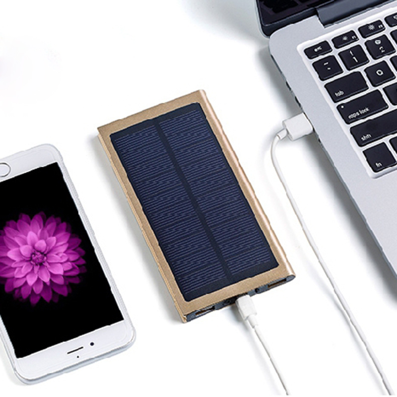 Banco do Poder 12000 mah carregador solar bateria Interface de Saída : Dual USB