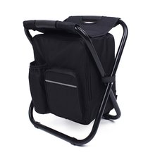 Backpack with Cooler Insulated Picnic Bag Hiking Seat Table Bag Folding Camping Fishing Chair Stool  P20 47l camping travel backpack with folding chair backpack and stool chair combo gear for outdoor hiking fishing